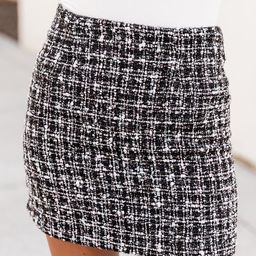Run Away With Me Black Tweed Skirt | The Pink Lily Boutique