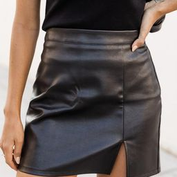 Diva Moment Black Leather Skirt | The Pink Lily Boutique