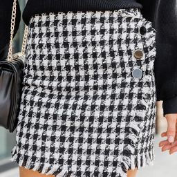 Amazed By You Tweed Black Skirt | The Pink Lily Boutique
