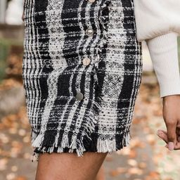 Relive The Magic Tweed Black Skirt | The Pink Lily Boutique