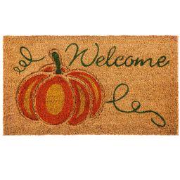 Evergreen Welcome Pumpkin Coir Mat   Target