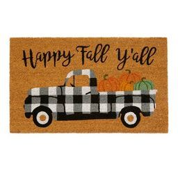 """Farmhouse Living Happy Fall Y'all Coir Doormat - 18"""" x 30"""" - Natural - Elrene Home Fashions   Target"""