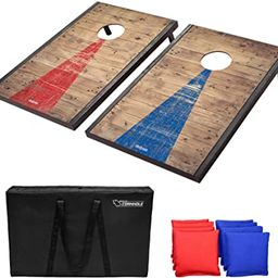 GoSports Classic Cornhole Set – Includes 8 Bean Bags, Travel Case and Game Rules (Choice of sty... | Amazon (US)
