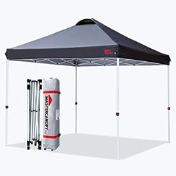 MASTERCANOPY Durable Ez Pop-up Canopy Tent with Roller Bag (10x10, Black) | Amazon (US)
