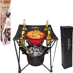 Tailgating Table- Collapsible Folding Camping Beach Table with Insulated Cooler, Food Basket and ... | Amazon (US)