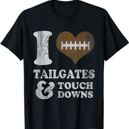Football Tailgates And Touchdowns Game Day Men Women T-Shirt | Amazon (US)