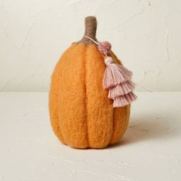 """9"""" x 6"""" Felted Pumpkin Figurine Apricot - Opalhouse™ designed with Jungalow™   Target"""