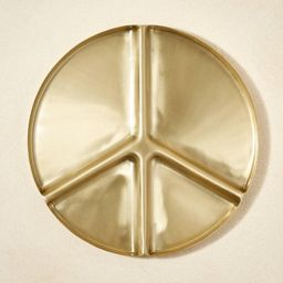 """13"""" Metal Peace Sign Divided Serving Tray - Project Bungalow   Target"""