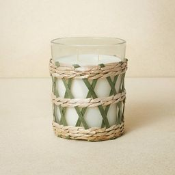 16oz Glass 2-Wick with Woven Wrap Green Candle - Opalhouse™ designed with Jungalow™   Target