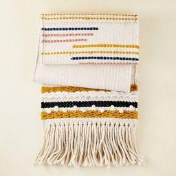 "72"" x 14"" Cotton Textured Table Runner with Fringe Black/White/Gold - Opalhouse™ de...   Target"