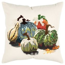 """20""""x20"""" Oversize Gourds Square Throw Pillow - Rizzy Home   Target"""