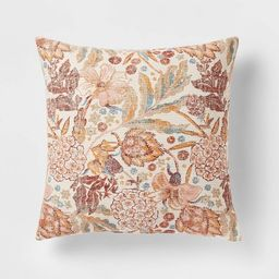 Floral Printed Square Throw Pillow - Threshold™   Target