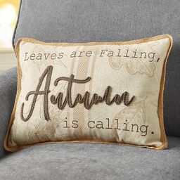 Lakeside Leaves Are Falling Autumn Is Calling Decorative Accent Throw Pillow   Target