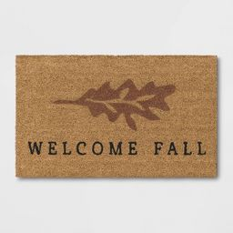 """1'6""""x2'6"""" Welcome Fall Harvest Doormat Natural - Threshold™   Target"""