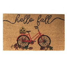 "Farmhouse Living Hello Fall Bike Coir Doormat - 18"" x 30"" - Elrene Home Fashions   Target"