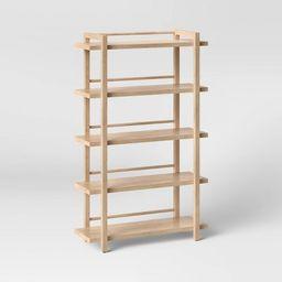 "68"" Wide Wood 5 Shelf Bookcase Natural - Threshold™   Target"
