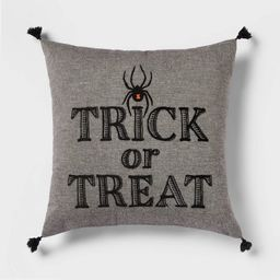 'Trick or Treat' Spider Square Throw Pillow - Threshold™ | Target