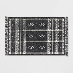 """2'3""""x3'9"""" Southwest Plaid Accent Rug Gray - Project 62™ 