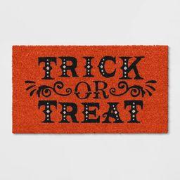 """1'2""""x2'2"""" Trick or Treat Halloween Doormats Orange - Threshold™   Target"""