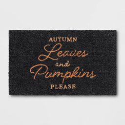 "1'6""x2'6"" Autumn Leaves Harvest Doormat Black - Threshold™ | Target"