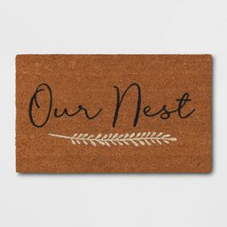 """1'6""""x2'6"""" Our Nest Doormat Natural - Threshold™ 