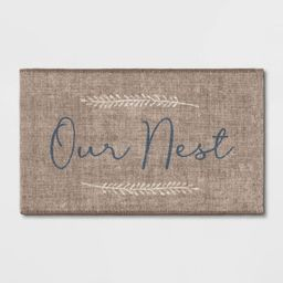 2'x3' Our Nest Printed Rug Gray - Threshold™ | Target
