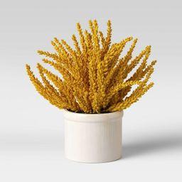 "10"" x 10"" Goldenrod Artificial Plant Arrangement Yellow - Threshold™ | Target"