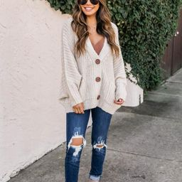 Sundown Awaits Knit Oatmeal Cardigan | The Pink Lily Boutique