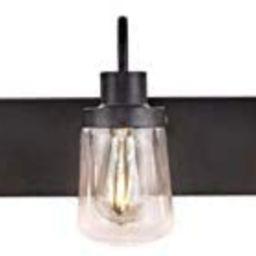 YAOHONG Modern Bathroom Vanity Light 5-Light Lamp in Black, Farmhouse Wall Light Fixture with Cle... | Amazon (US)