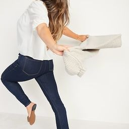 High-Waisted Dark Wash Straight-Leg Jeans for Women   Old Navy (US)
