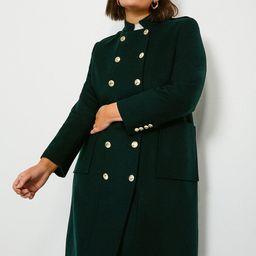 Curve Military Wool Coat   Karen Millen UK & IE