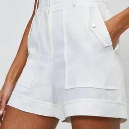 Summer Linen Blend Shorts   Karen Millen UK & IE