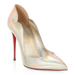 Hot Chick Iridescent Scallop Leather Pumps   Saks Fifth Avenue