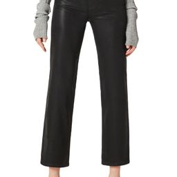 Remi Coated High Waist Crop Straight Leg Jeans   Nordstrom