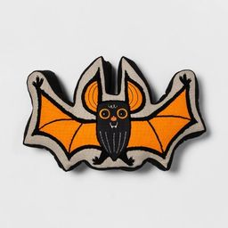 Highlight Embroidered Bat Shaped Throw Pillow with Gusset Black - Hyde & EEK! Boutique™   Target
