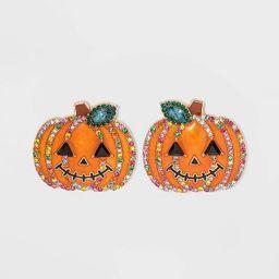 SUGARFIX by BaubleBar Crystal Jack Lantern Stud Earrings - Orange   Target