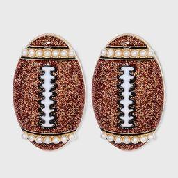 SUGARFIX by BaubleBar Football Stud Earrings - Brown   Target