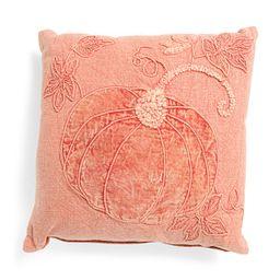 20x20 Washed Velvet Pumpkin Pillow | TJ Maxx