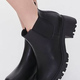 Faux Leather Chelsea Booties (Wide) | Forever 21 (US)