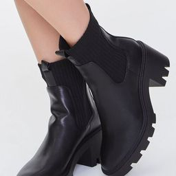 Faux Leather Platform Chelsea Boots | Forever 21 (US)