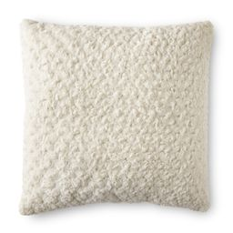 "Better Homes & Gardens Rosette Plush Decorative Square Throw Pillow, 22"", Ivory, Single Pillow - ...   Walmart (US)"