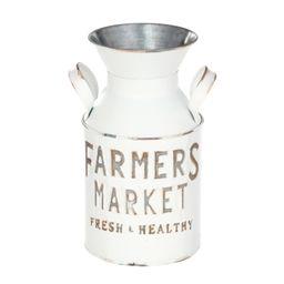 "Mainstays Farmers Market Metal Milk Jug Décor with Handles, White, 10"" H - Walmart.com   Walmart (US)"