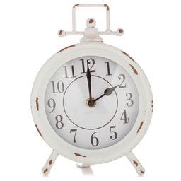 "White Vintage Distressed Tabletop Desk Clock, 6.3"" x 9"" - Walmart.com   Walmart (US)"