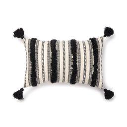 """Better Homes & Gardens Woven Tufted Decorative Lumbar Pillow, 14"""" x 24"""", Black, Single Pillow - W...   Walmart (US)"""