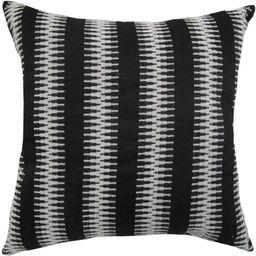 "Better Homes & Gardens Zig Zag Stripe Decorative Throw Pillow, 18"" x 18"", Black and White - Walma... | Walmart (US)"