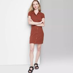 Women's Short Sleeve Bodycon Polo Dress - Wild Fable™   Target