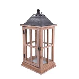 Better Homes & Gardens Rustic Wood Candle Holder Lantern, Medium - Walmart.com   Walmart (US)