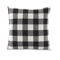 """Better Homes & Gardens Feather Filled Buffalo Plaid Square Decorative Throw Pillow, 18"""" x 18"""", Bl...   Walmart (US)"""