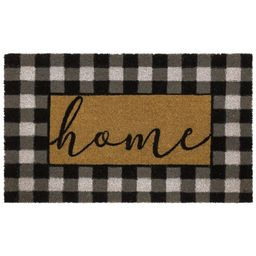 Mainstays Home Plaid Black and White Farmhouse Outdoor Doormat, Black and White, 18' x 30' - Walm...   Walmart (US)