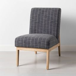 Upholstered Natural Wood Slipper Accent Chair - Hearth & Hand™ with Magnolia | Target
